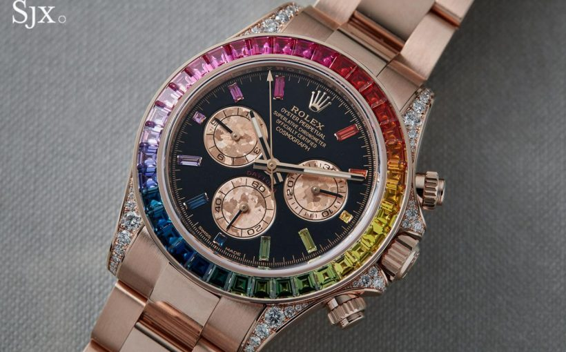 "9dc87d691b5 Replica Watches Essentials Up Close with the Rolex Daytona ""Rainbow ..."